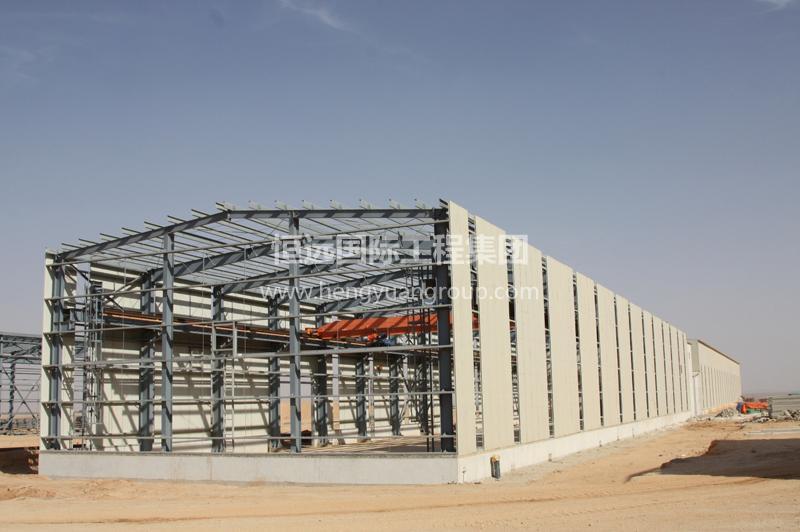 蒙古MAK水泥厂钢结构厂房