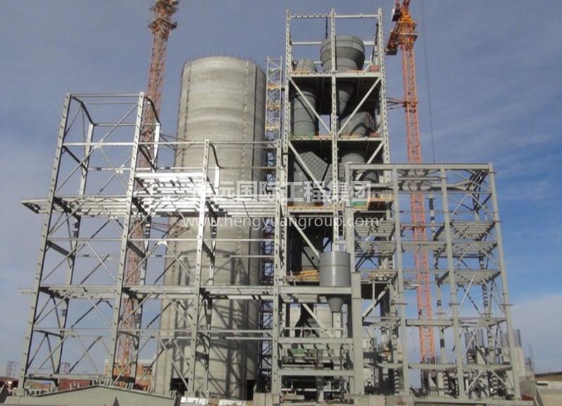 蒙古MAK水泥厂预热器塔架